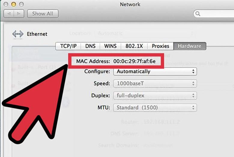 MAC адрес в Apple