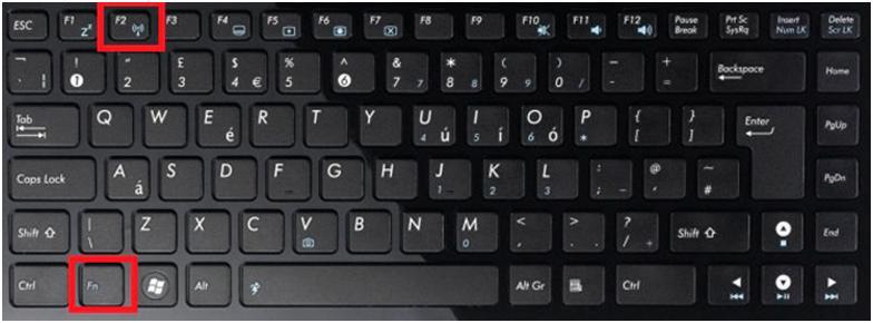 Чтобы включить WiFi на ноутбуке ASUS, служат клавиши FN+F2
