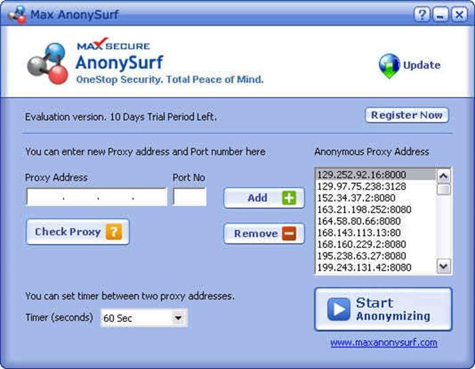 Как скрыть свой IP адрес в программе Max AnonySufr