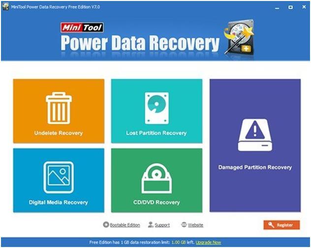 Выбрать необходимый модуль Power Data Recovery