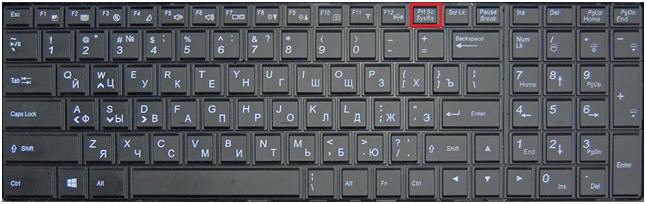 Расположение кнопки Prt Scr