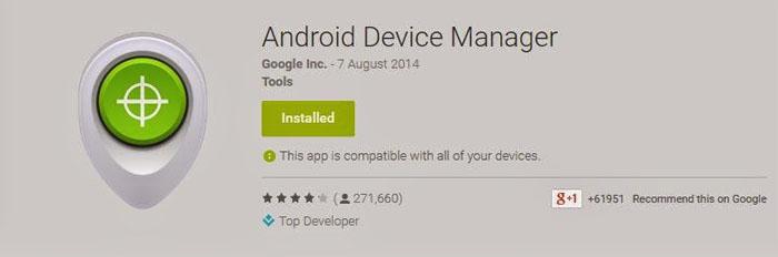 При первом входе на интернет-портал Google Android Device Manager предложит принять условия, которые позволят контролировать месторасположение смартфона или же планшета