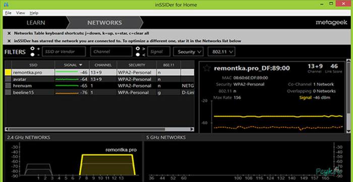 С ее помощью можно проанализировать все сети вокруг Вас.