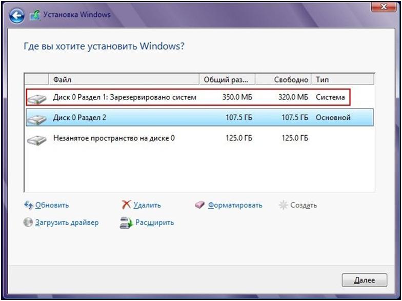 ОС предложит зарезервировать 350 Мб для Windows 8