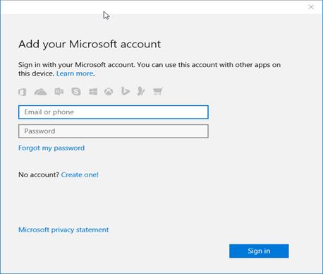 Авторизация Microsoft