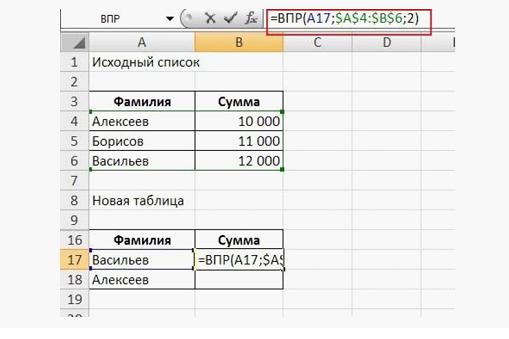 Чтобы выполнить аналогичные манипуляции с другой фамилией из списка, скопируйте формулу