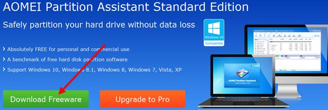 Програмку для разбивки диска для windows xp
