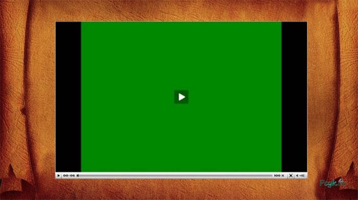 Зеленый экран видео