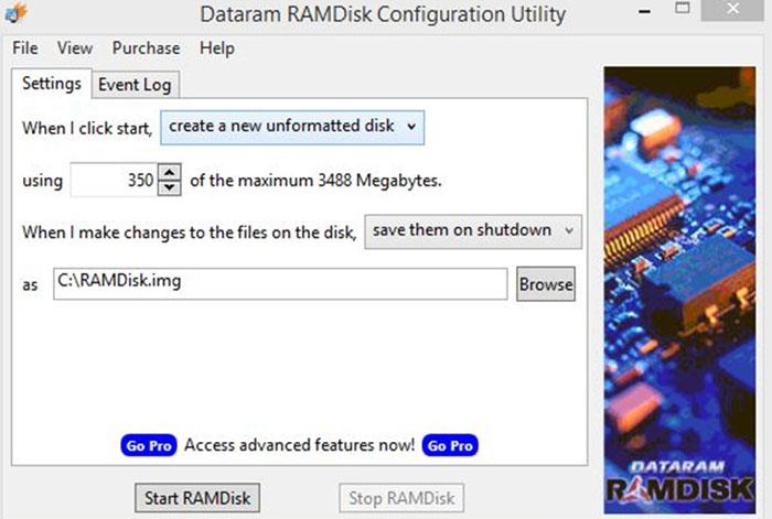 Последнее – нажмите кнопку Start Ram Disk