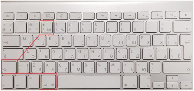 Скриншот полной картинки монитора на Mac
