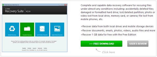 Официальный сайт 7 Data Recovery Suite
