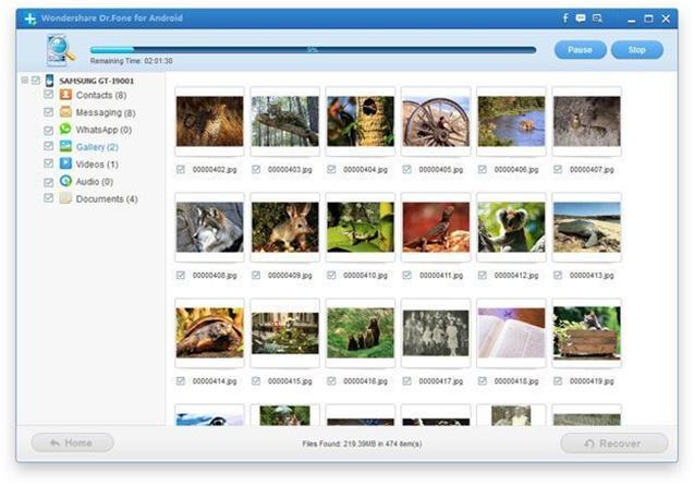 По завершению сканирования, программа покажет файлы для восстановления (доступен предварительный просмотр)